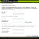 データベース・管理アカウント設定画面